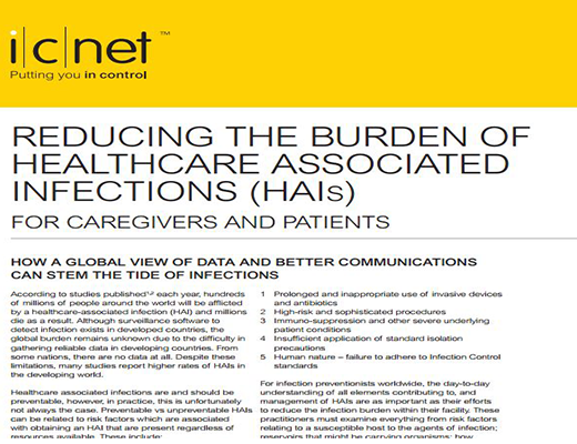 Reducing The Burden of Healthcare Associated Infections (HAIs) For Caregivers and Patients