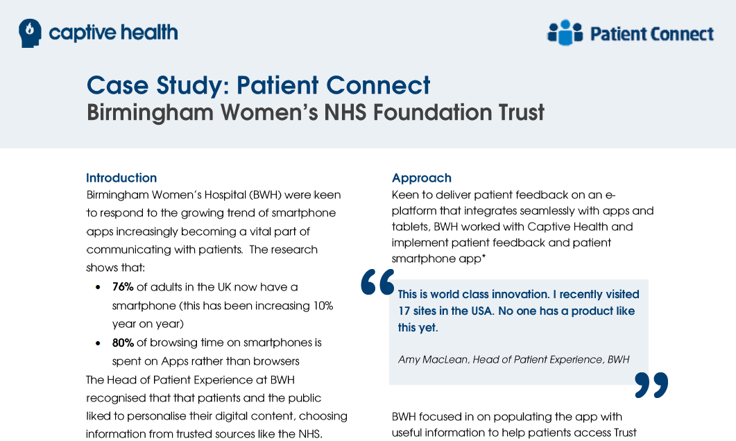 Patient Connect - Birmingham Women