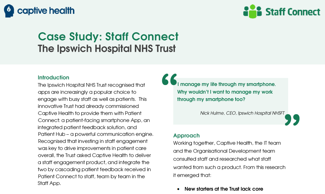 Staff Connect - Ipswich Hospital NHS Trust