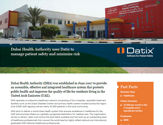 Dubai Health Authority Uses Datix To Manage Patient Safety and Minimize Risk