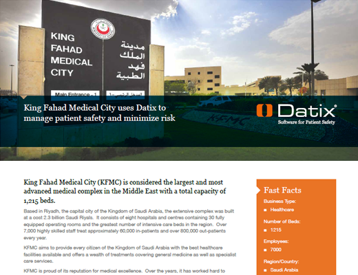 King Fahad Medical City Uses Datix To Manage Patient Safety and Minimize Risk
