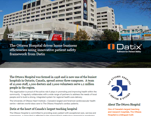 The Ottawa Hospital Drives Home Business Efficiencies Using Innovative Patient Safety Framework From Datix